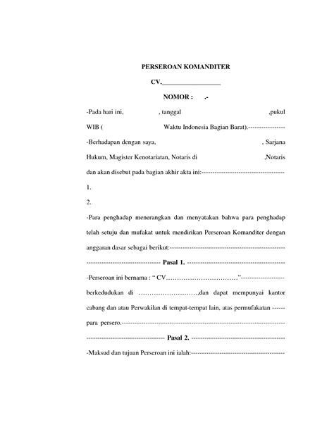 syarat membuat cv di notaris dokumen untuk mendirikan perusahaan fikrinm93