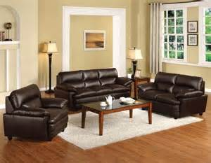 Modern Living Room Ideas With Brown Leather Sofa Import Direct 3 Pcs Winston I Brown Bonded Leather Sofa Set Modern Living Room