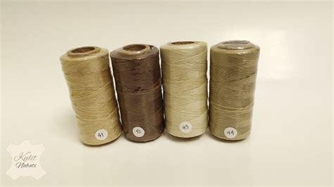 Perlengkapan Jahit Benang Jahit 424 1 benang polyester waxed kulitnabati bahan kulit