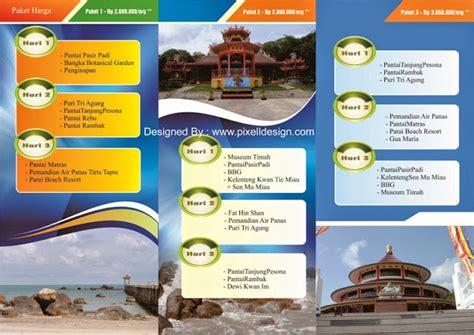 membuat brosur iklan contoh desain brosur iklan travel agen wisata paling