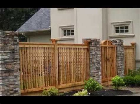 fencing designs for houses home fencing design ideas youtube