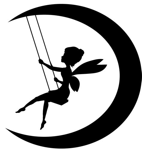 free silhouette images fairy on moon silhouette clipart best clipart best