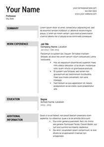 Resume Templates Free by Free Resume Templates