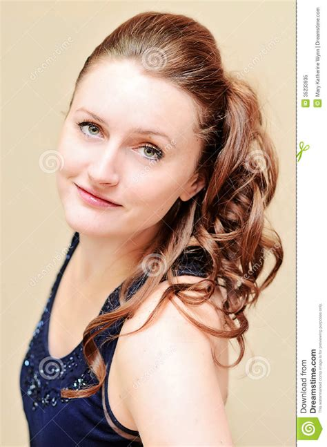 millions of women wear ponytails woman with formal hairstyle stock image image 35233935