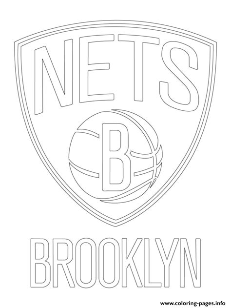 nba coloring pages nba logos brooklyn nets logo nba sport coloring pages printable