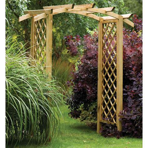 Wooden Garden Arch Uk Stunning Wide Rafter Top Wooden Garden Arch Archway