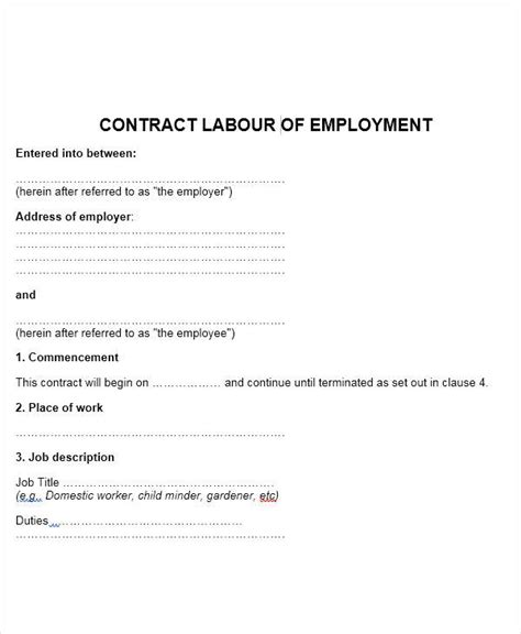 appointment letter format for labour 51 sle appointment letters