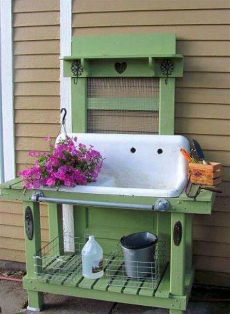 potting bench sink old sink potting bench things with character
