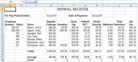 microsoft excel payroll template exltemplates