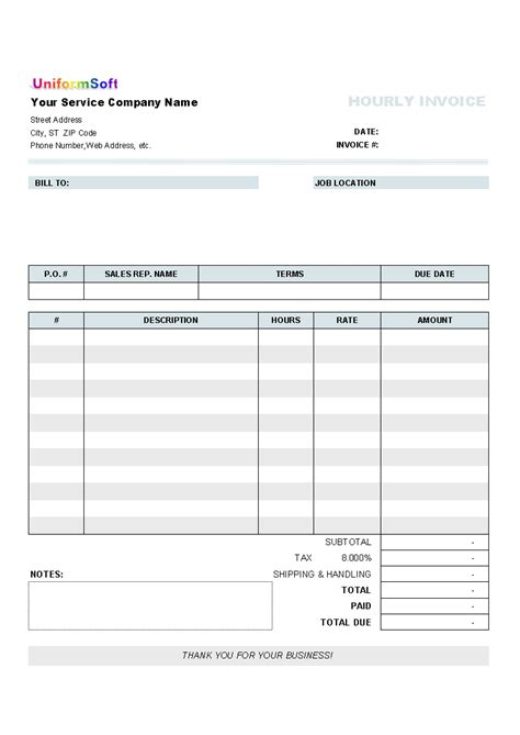 a printable invoice blank invoices to print white gold