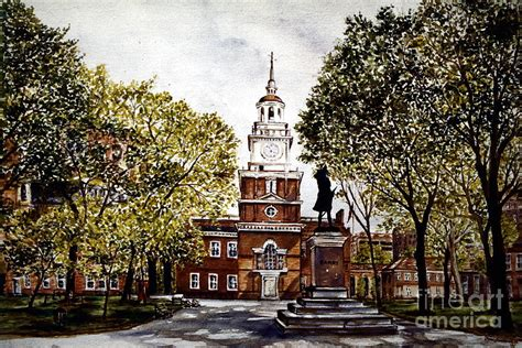 hall painting independence hall painting by joyce a guariglia
