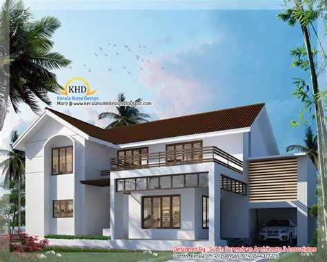 5 bedroom home 3000 sq ft 5 bedroom villa elevation kerala home