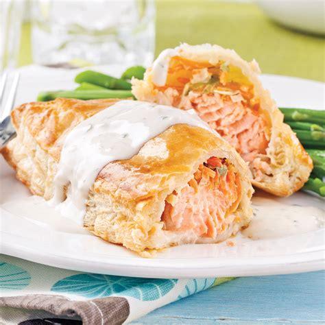saumon cuisine saumon wellington recettes cuisine et nutrition