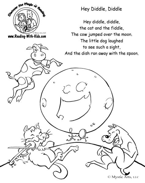 free printable coloring pages nursery rhymes free coloring pages of hey diddle diddle