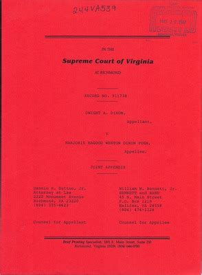 Virgina Court Records Virginia Supreme Court Records Volume 244 Virginia