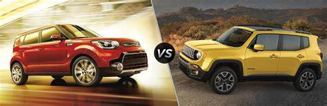kia jeep 2017 2017 kia soul vs 2017 jeep renegade
