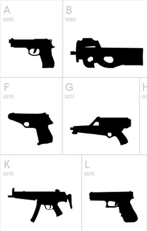 Letter Guns Gun Font The Firearm Blogthe Firearm