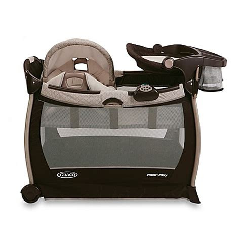 pack and play bed graco 174 pack n play 174 playard with cuddle cove elite rocking seat in paris www