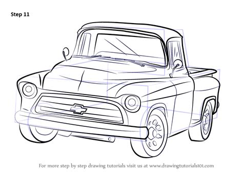 Chevy Truck Drawings by Learn How To Draw A 1955 Chevy Truck Trucks Step By Step