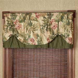 Valance Only Window Treatment Tropical Tie Up Valance Window Treatment