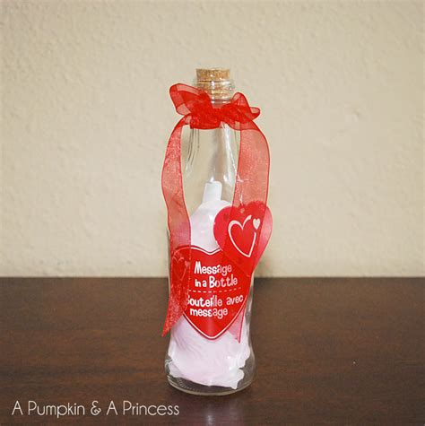 message in a bottle valentines gift message in a bottle a pumpkin and a princess