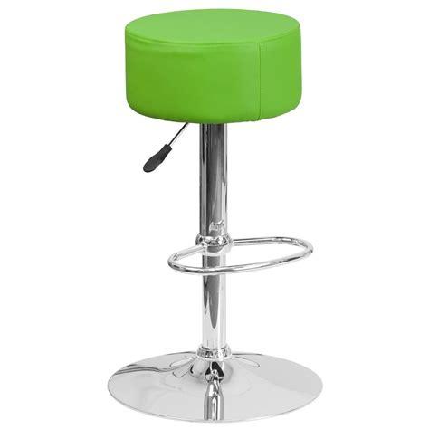 cushioned bar stool flash furniture adjustable height green cushioned bar