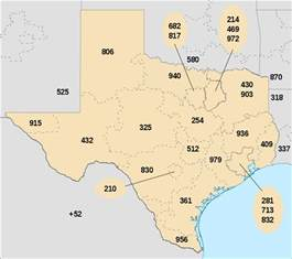 Area Code For Tx List Of Area Codes
