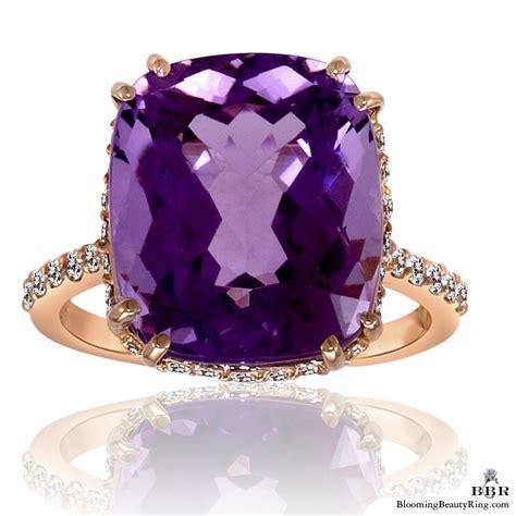light amethyst engagement rings 20k rose gold rich color 8 65 ct purple rose cut amethyst