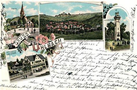 ak ansichtskarte uhlbach stuttgart kirche kernenturm