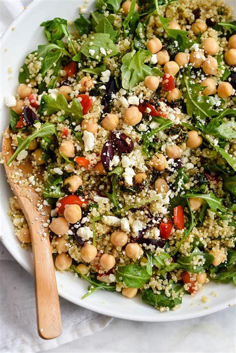 quinoa salad mediterranean quinoa salad foodiecrush