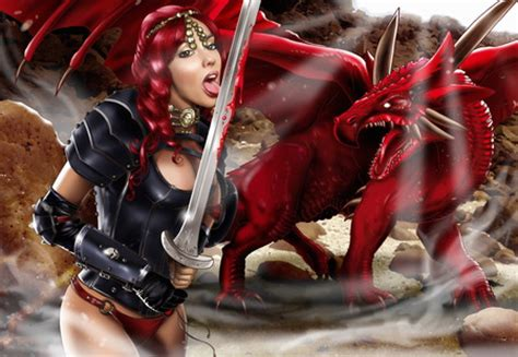 wallpaper her 3d warrior girl and her dragon 3d and cg abstract