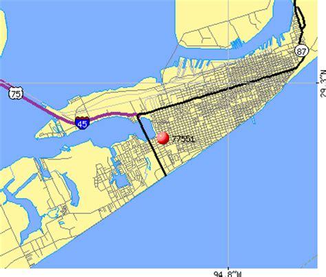 galveston texas zip code map galveston tx zip code map images