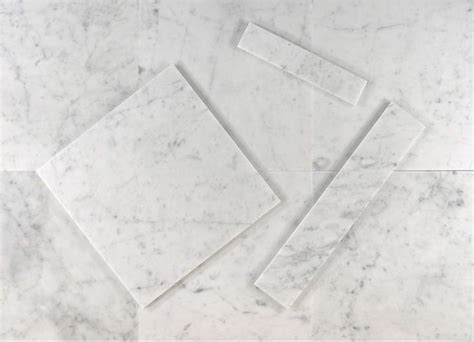 bianco carrara white marble polished tiles 18 in x 18 in