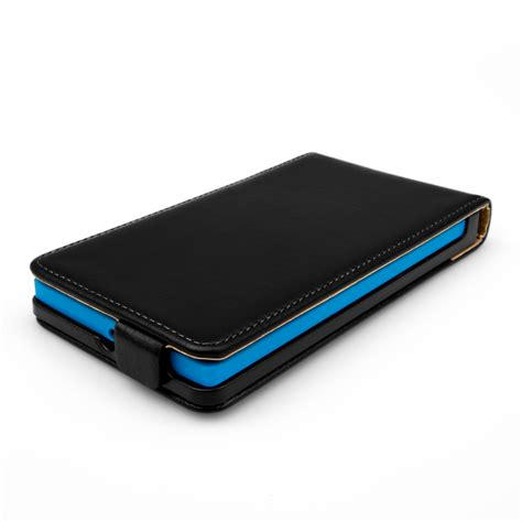 Leather Flip Cover View Nokia Xl yousave accessories nokia xl real leather flip black