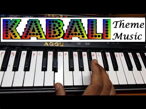 movie themes on keyboard learn how to play neruppu da kabali movie theme music on