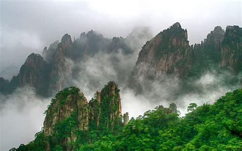 huangshan mountain range  southern anhui province