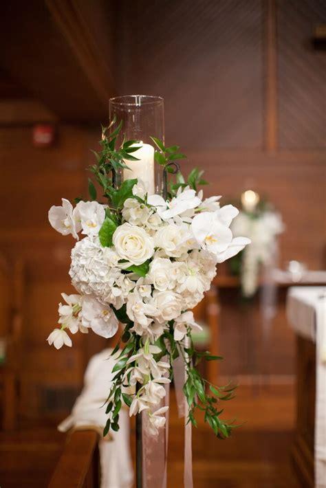 white flower  candle wedding altar decor
