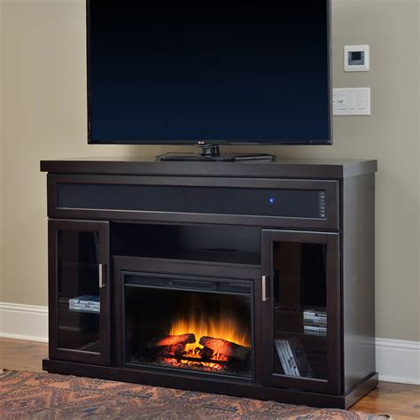 tenor infrared electric fireplace entertainment center in