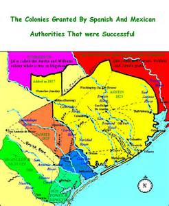 texas land grants map map of texas colonies