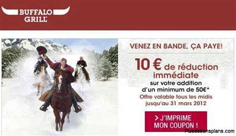 Code Promo Buffalo Grill by Buffalo Grill Masque Enfant Gratuit 10 Euros De R 233 Duction