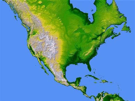 america map topographical topographic map america