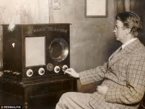 when was colored tv invented tv received outside enthralled faces of five