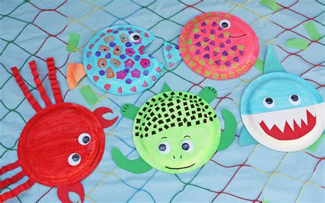 Colorful Paper Plate Sea Creatures