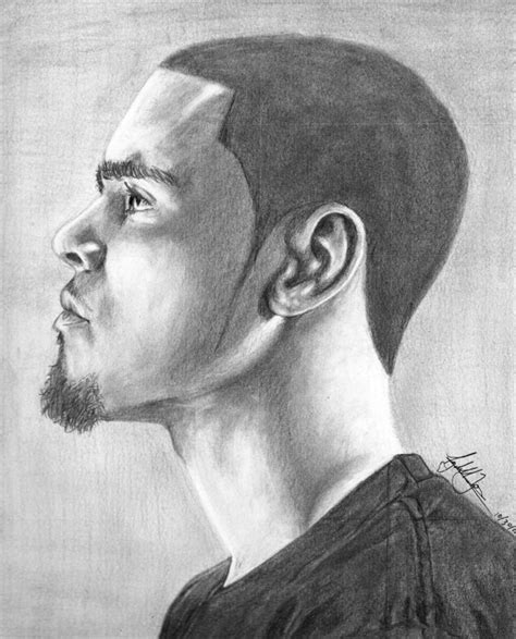 J Cole Drawing Easy by J Cole Portrait By Blkflamez On Deviantart