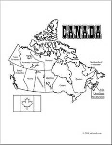 clip canada map coloring page labeled abcteach