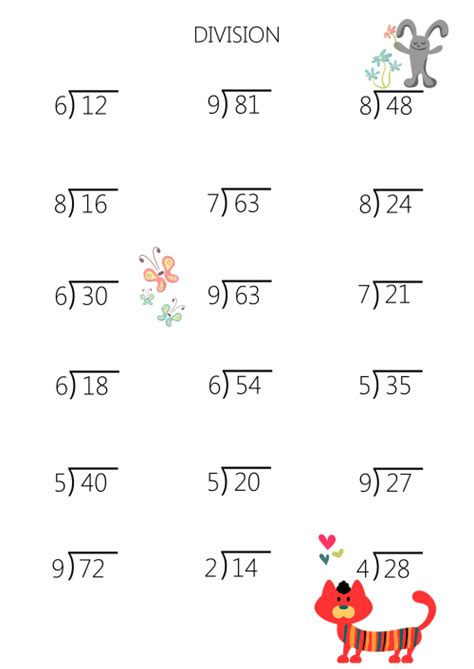 printable simple division worksheets simple division facts practice sheet kidspressmagazine com