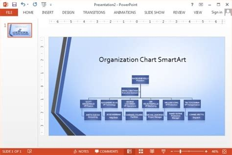 powerpoint 2007 organizational chart template widescreen