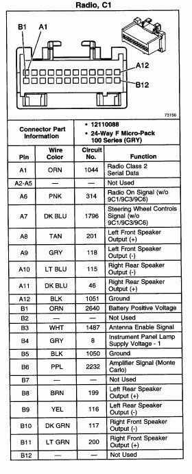 2007 chevy radio wiring diagram wiring diagram and fuse