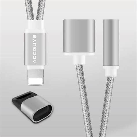 apple iphone headphone mm audio jack splitter adapter