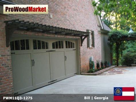 hand crafted pergola  garage door trellis  pro wood